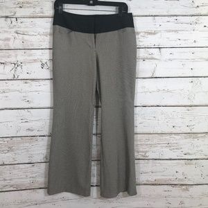 Express Editor Gray Brown Houndstooth pants